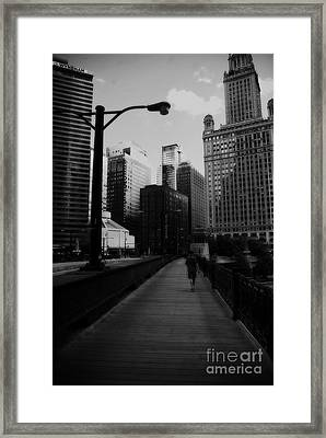 Vertigo Chicago Framed Print by Frank J Casella