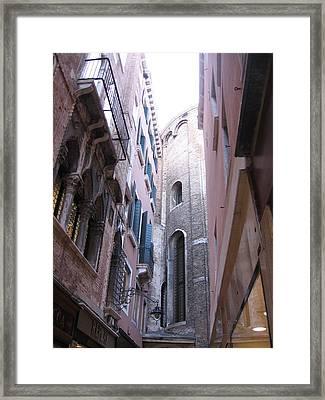 Vertigo In Venice Framed Print