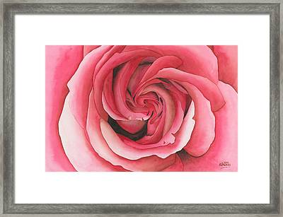 Vertigo Rose Framed Print by Ken Powers