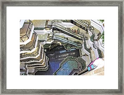 Framed Print featuring the photograph Vertigo View by Kim Wilson