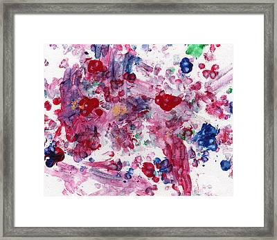 Very Berry Paws Framed Print
