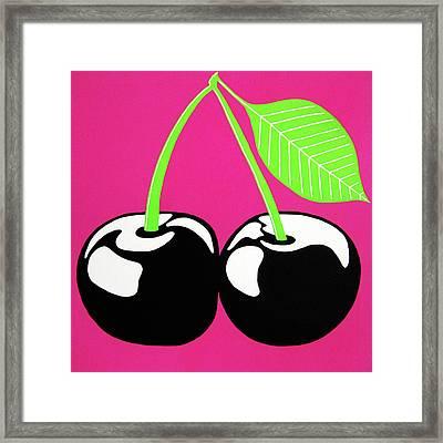 Very Cherry Framed Print by Oliver Johnston