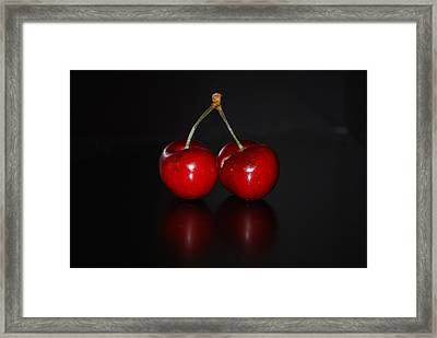 Very Cherry Framed Print by Peter  McIntosh