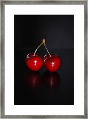 Very Cherry Vertical Framed Print by Peter  McIntosh