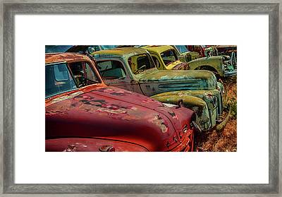 Very Late Models Framed Print