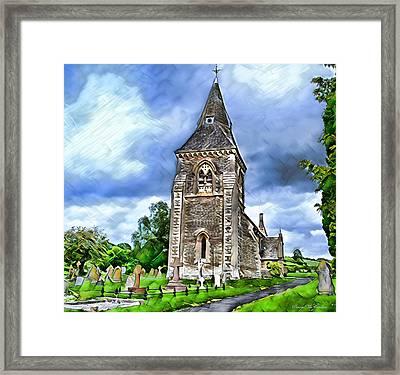 Very Old Church Framed Print