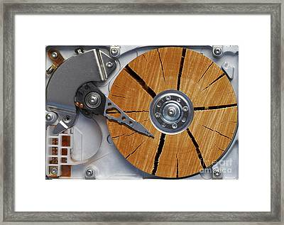 Very Old Hard Disc Framed Print by Michal Boubin