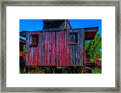 Very Old Worn Caboose Framed Print by Garry Gay