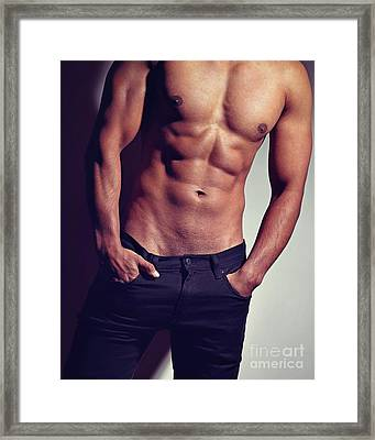 Very Sexy Man With Great Body Framed Print