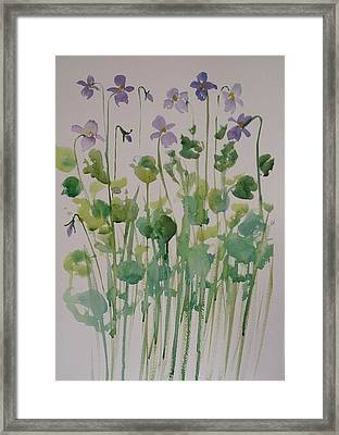 Very Violet Framed Print