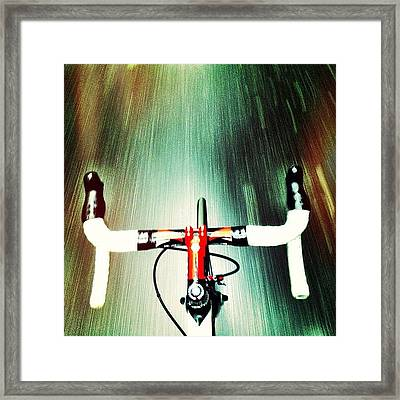 Very Wet Commute This Morning Framed Print