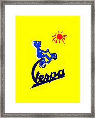 Vespa 1955 Framed Print by Mark Rogan