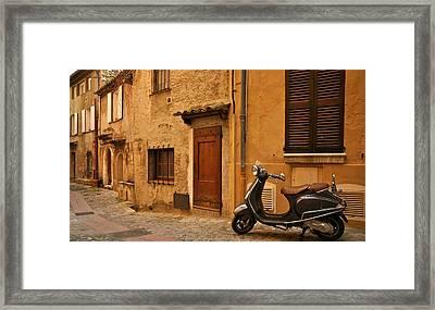 Vespa Dreams Framed Print