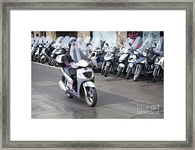 Vespa In Florence Framed Print by Andre Goncalves