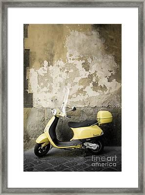 Vespa Motorscooter Florence Italy Framed Print by Edward Fielding