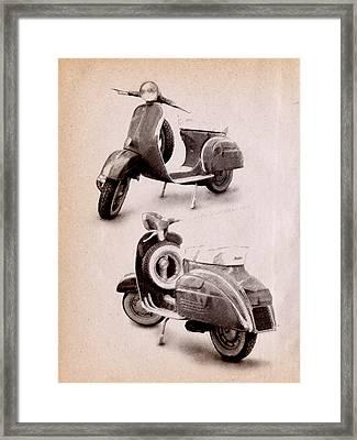 Vespa Scooter 1969 Framed Print