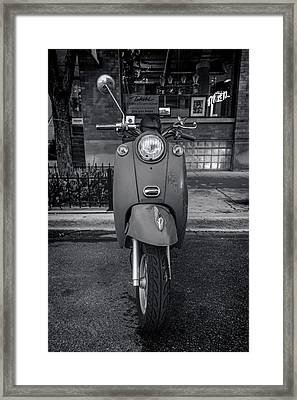 Framed Print featuring the photograph Vespa by Sebastian Musial