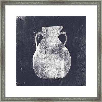 Vessel 5- Art By Linda Woods Framed Print by Linda Woods