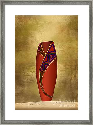 Vessel In Red Framed Print