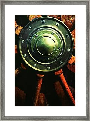 Vessels Wheel Framed Print by Karol Livote