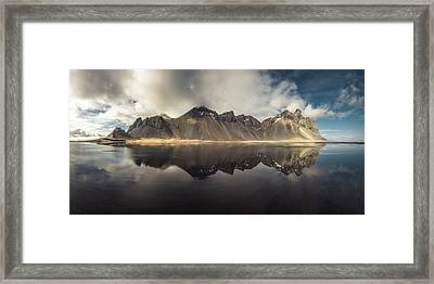 Vestrahorn Panorama Framed Print by Tor-Ivar Naess