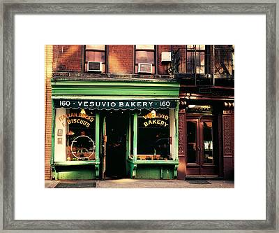 Vesuvio Bakery - Soho - New York City Framed Print