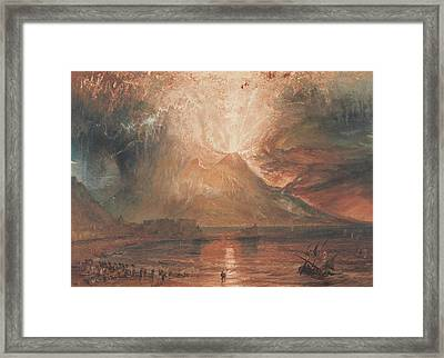 Vesuvius In Eruption Framed Print
