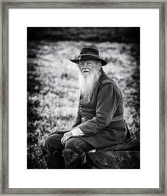 Veteran Soldier Framed Print