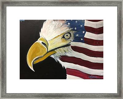 Veteran's Day Eagle Framed Print by Laurie Maves ART
