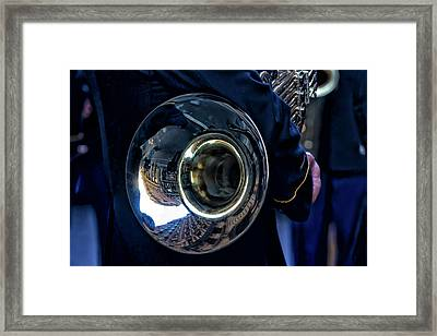 Veterans Day Nyc 11_11_16 Marching Band Framed Print by Robert Ullmann