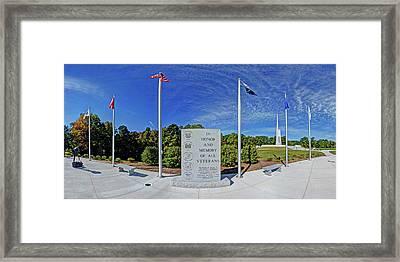Veterans Freedom Park, Cary Nc. Framed Print