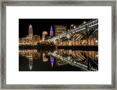Veterans Memorial Bridge Framed Print