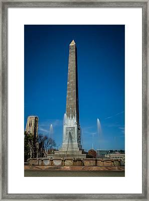 Veteran's Memorial Plaza Framed Print