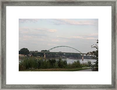Vetrans Memorial Bridge Framed Print by Yumi Johnson