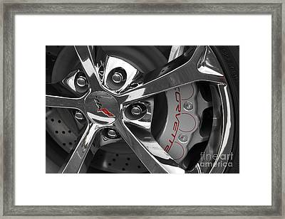 Vette Wheel Framed Print by Dennis Hedberg
