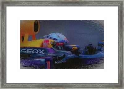 Vettel And Redbull Framed Print by Marvin Spates