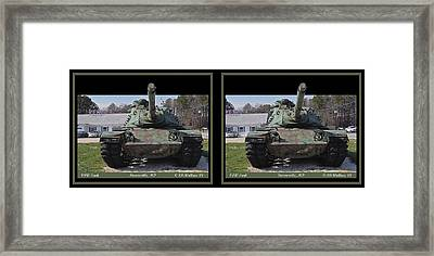 Vfw Tank - Gently Cross Your Eyes And Focus On The Middle Image Framed Print by Brian Wallace