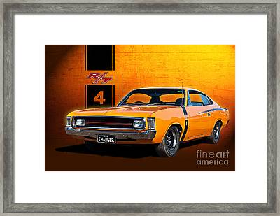 Vh Valiant Charger Framed Print