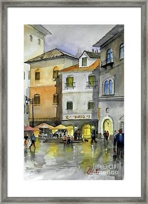 via Corso Framed Print