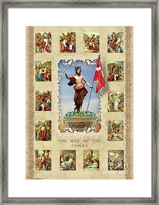 Via Crucis Framed Print