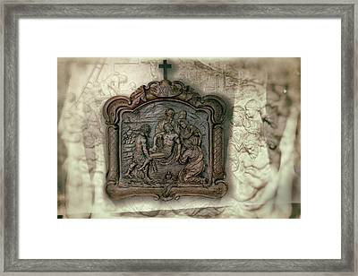 Via Crusis Xiv Framed Print