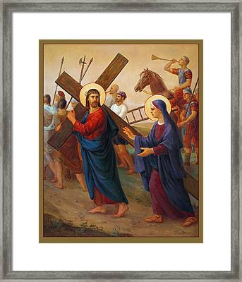 Framed Print featuring the painting Via Dolorosa - The Way Of The Cross - 4 by Svitozar Nenyuk