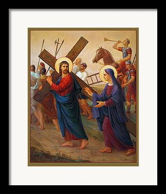 Via Crucis Framed Prints