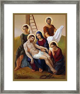 Framed Print featuring the painting Via Dolorosa - Way Of The Cross - 13 by Svitozar Nenyuk