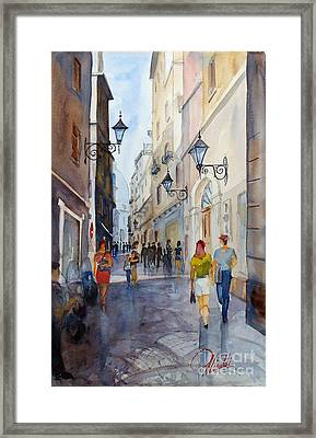 Via Garibaldi Framed Print