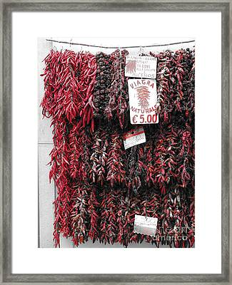 Viagra Naturale Framed Print by Jeff White