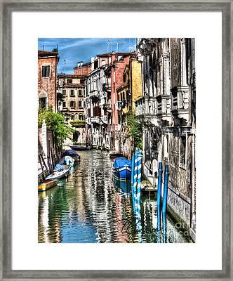 Viale Di Venezia Framed Print