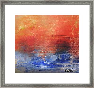 Vibrance Of Fall Framed Print