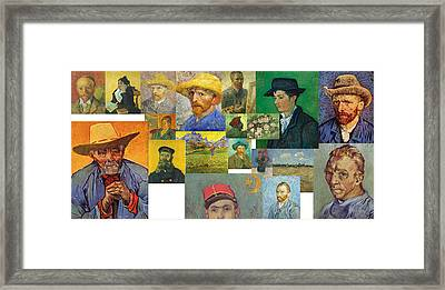 Framed Print featuring the painting Vibrance Of Van Gogh Mural IIl by David Bridburg