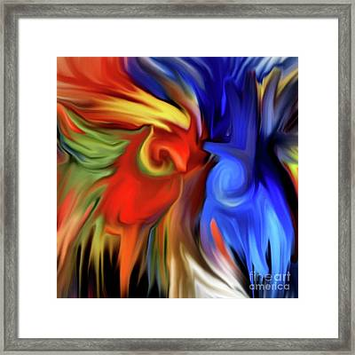 Vibrant Abstract Color Strokes Framed Print